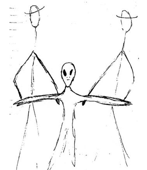 Girardeau Alien Sketch By Charlette Mann