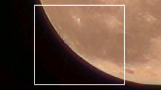 Ufos on moon
